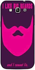 Snoogg Big Beards Cannot Lie 2919 Hard Back Case Cover Shield For Samsung Gal...