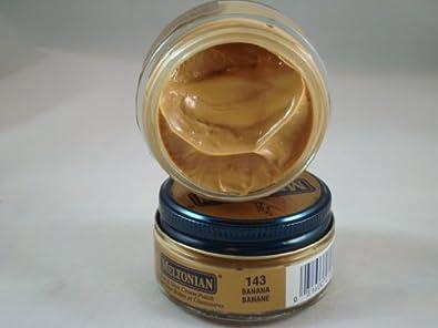 Meltonian Shoe Cream Leather Boot Polish 35 Colors 1.55 oz Jar (#143 Banana)