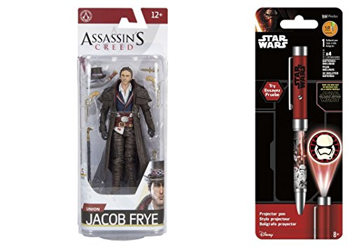 Super Hero Assassin's Creed Series 5 Union Jacob Frye & Free Star Wars Projector Pen, Colors may vary Toys