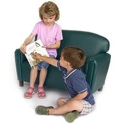 Brand New World Furniture FPVT100 Brand New World Preschool Premium Vinyl Upholstery Sofa -Teal , 38.99\