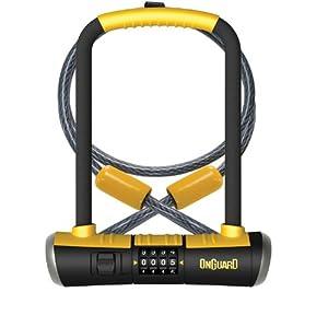 onguard bulldog combination u lock cable combo cable bike locks sports outdoors. Black Bedroom Furniture Sets. Home Design Ideas