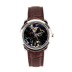 Besgirler Vintage Leather Watch Straps Fun Leather Banded Watches Astronomy Lover