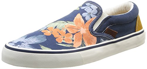 Pepe Jeans London HARRY SLIP ON, Low-Top Sneaker uomo, Blu (Blau (585MARINE)), 40