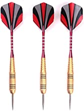 3 PCS of Steel Tip Darts 25g Brass Dart with Aluminium Alu Shafts Nice Flights