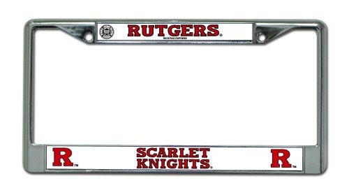 Ncaa Rutgers Chrome License Plate Frame Automotive