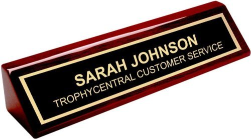 Engraved Desk Name Plate - Office Name Plate for Desk - Business Desk Name Plate (Custom Office Name Plates compare prices)