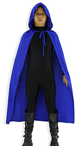 "JustinCostume Adult 48"" Lycra Spandex Halloween Hooded Cape Costume"