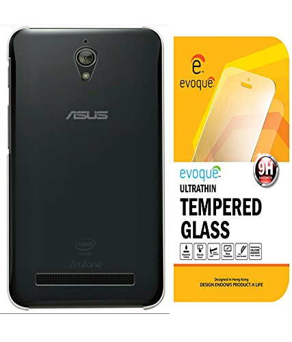 Evoque Transparent Back Cover For Asus Zenfone C Zc451Cg With Tempered Glass  available at amazon for Rs.175