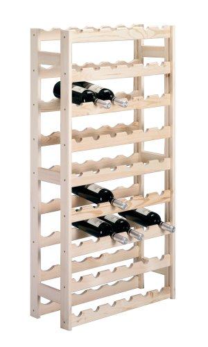 13165 Flaschenregal für 54 Flaschen, Kiefer / 67,5 x 25 x 118