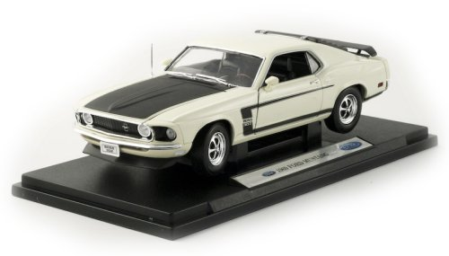 Buy 1969 Ford Mustang Boss 302 Diecast Model White 1:18 Die Cast Car