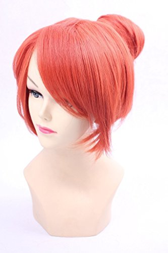 Cosplay Wigs Short Red Halloween Party Costume Full Hair for Silver Soul Kagura
