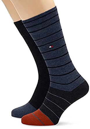 Tommy Hilfiger - Chaussettes - Homme - Bleu (Midnight Blue 563) - FR: 43/46 (Taille fabricant: 43/46)