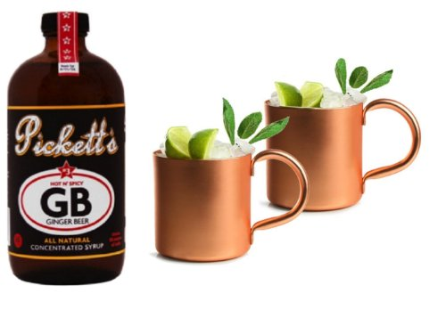 Pickett'S #3 Ginger Beer And 2 Mule Mugs Combo