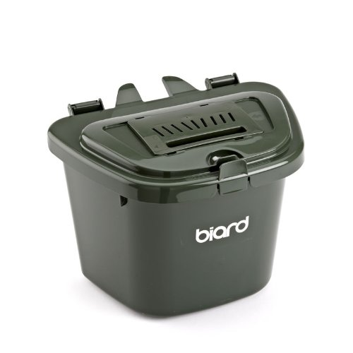 Biard ECO 5 Litre Kitchen Food Waste Compostable Recycling Caddy Bin in Green, Brown Or Silver - Silver