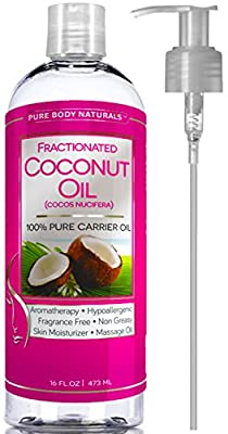 Fractionated Coconut Oil 16 Oz by Pure Body Naturals