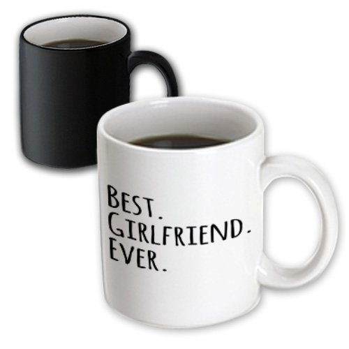 3Drose Best Girlfriend Ever Fun Romantic Love And Dating Gifts Magic Transforming Mug, 11-Ounce