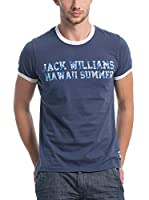 JACK WILLIAMS Camiseta Manga Corta (Azul Oscuro)