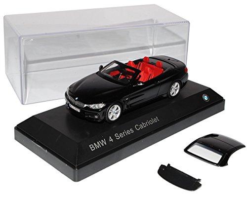BMW-4er-Cabrio-M-F33-Schwarz-AB-2014-143-Kyosho-Modell-Auto-mit-individiuellem-Wunschkennzeichen