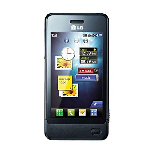 LG GD510EUBLK Unlocked GSM Quad-Band Cell Phone with 3 MP Camera, Touch Screen, MP3 Player, and Bluetooth – Unlocked Phone – International Version – Black