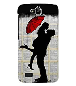 ColourCraft Loving Couple Design Back Case Cover for HUAWEI HONOR HOLLY
