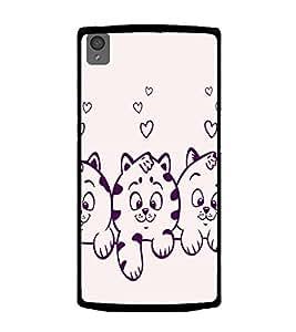 printtech Cute Kitten Back Case Cover for OnePlus X