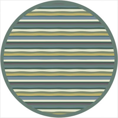 Joy Carpets Kid Essentials Active Play & Juvenile Round Yipes Stripes Rug, Soft, 7'7""
