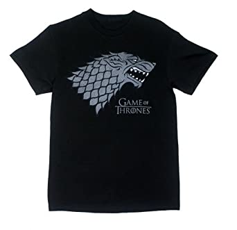 House Stark - Game Of Thrones T-shirt: Adult Small - Black