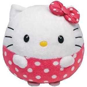 Ty Beanie Ballz 14 Inch HUGE Mega Plush Hello Kitty + Free Pack of Hello Kitty Silly Bandz Shaped Bracelets!!!