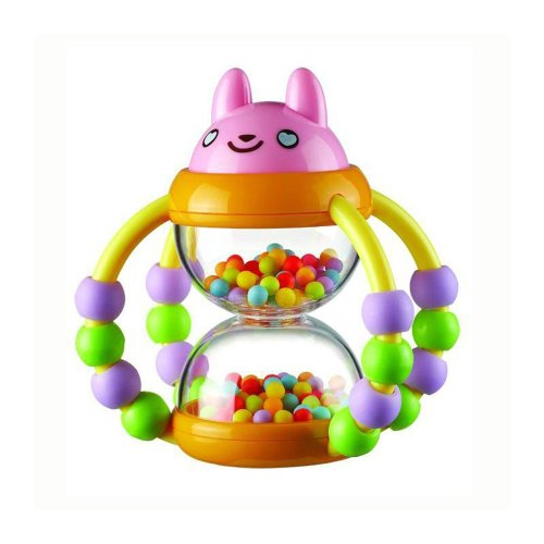 Flower Basket Hourglass Rattle Toy Non-toxic Baby Educational Toy AOB-463104