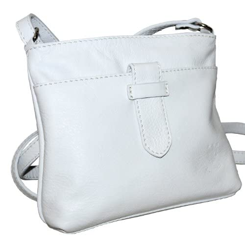 Genuine Italian Soft Leather, Small Strap Fronted Cross Body or Shoulder Bag Handbag. Includes Protective Dust...