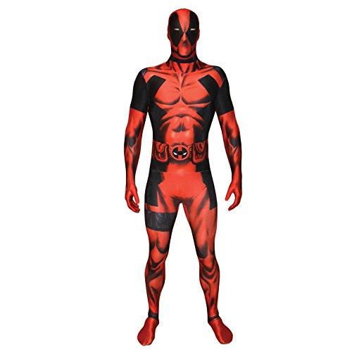 Costume Carnevale Travestimento Deadpool supereroe fumetti Morphsuit - adulto