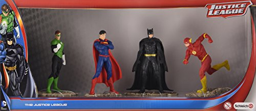 Schleich - Set di figurine dei supereroi della Justice League, 4 pz.
