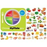 Myplate Nutrition Felt Figures for Flannel Boards- Includes: Lesson Guide+ Vegetables, Fruits, Grains, Dairy, Protein Precut