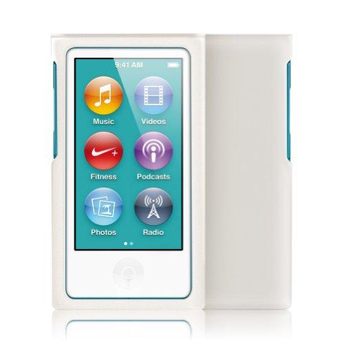Minisuit Jazz Slim Snap-On Hard Shell Case Cover For Apple Ipod Nano 7 (Rubberized White)