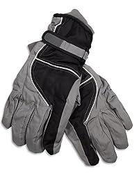 Winter Warm-Up - Mens Microfiber Gloves, Black, Grey 28512-X-Large
