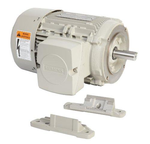 Siemens 1Le21211Aa114Ea3 1-Hp 3600 Rpm 208 230/460-Volt 143Tc General Purpose Electric Motor Nema Premium Efficient Aluminum Frame, Aluminum Rotor