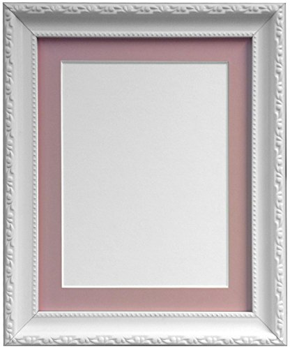 frames-by-post-ap3025-photo-frame-with-a4-pink-mount-for-9-x-6-inch-picture-size-white-30-mm-wide