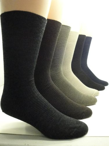 Men'S Non-Elastic Top Merino Wool Dress Socks (2 Pairs) (Xl (13-15 Shoe), Navy)
