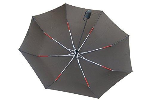 Ombrello Pieghevole H.DUE.O Antivento Chiusura ed Apertura Automatica  Colore  Moro copertura 130 cm