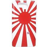iPhone4S ケース シェルカバー 携帯シール デコ 日章カラー 海軍旗 旭日旗