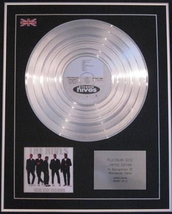 The Hives - Ltd CD platinum disc- Veni Vidi Vici Vicious