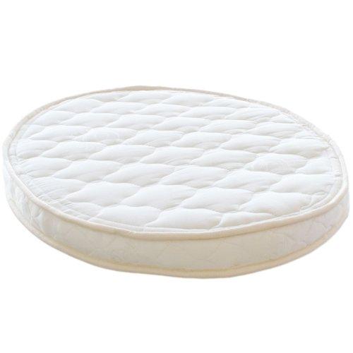 "Lifekind Baby Natural Rubber Organic Oval Bassinet Mattress (23X29X2.5"") - Fits Stokke Sleepi Mini front-21337"