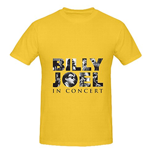 Billy Joel In Concert 2016 Pop Men Crew Neck Art Tee Yellow (Ps3 Brothers In Arms compare prices)