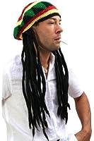 Bonnet avec Dreadlocks (Bob Marley, Rastafari)