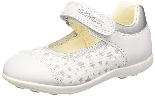 Geox B Jodie A Scarpe Walking Baby, Bambina, Bianco (White/Silver), 24