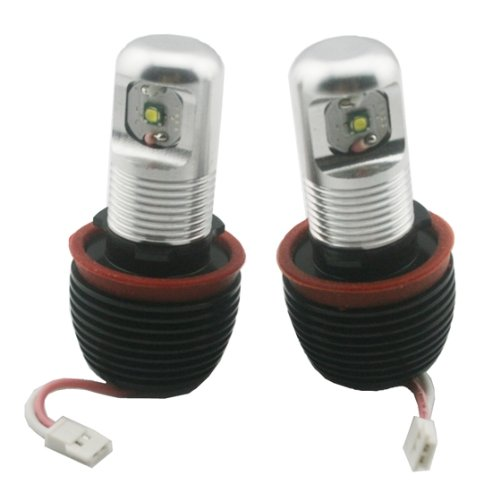 Partsam Bmw E90 E92 White Cree 10W H8 Led Angel Eyes