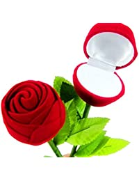 Lilone 2x Red Rose Ring Box For Women,Girls (Gift, Engagement) Without Ring