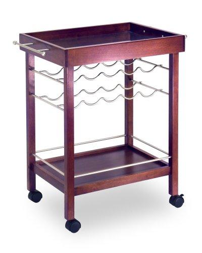 Winsome Wood Bar Cart, Espresso Finish