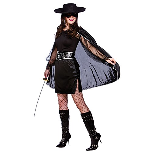 Bandit Beauty Zoro Lady Dress Up Costume Fancy Dress Halloween (Lady Zoro)