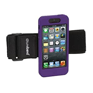 TuneBand for iPhone 5, Premium Sports Armband with Two Straps and Two Screen Protectors (Purple)